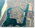 arial view, Naples Island, Long Beach CA, naples long beach, canal, long beach arial