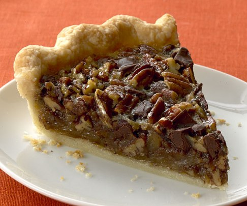 bourbon-chocolate-pecan-pie-recipe, pecan pie, recipe, thanksgiving, dessert recipe, pecan, crust