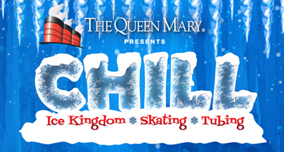 the-queen-mary-chill, ice scating, tubing, ice sculpture, holiday village, chill, queen mary, the queen mary, downtown long beach, long beach christmas, xmas in long beach, santa claus, decorations, xmas decorations, shopping, family, downtown long beach,