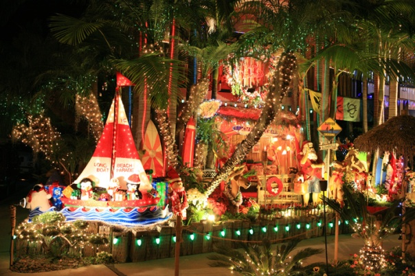 Christmas in Naples Island where the homes compete for various awards.