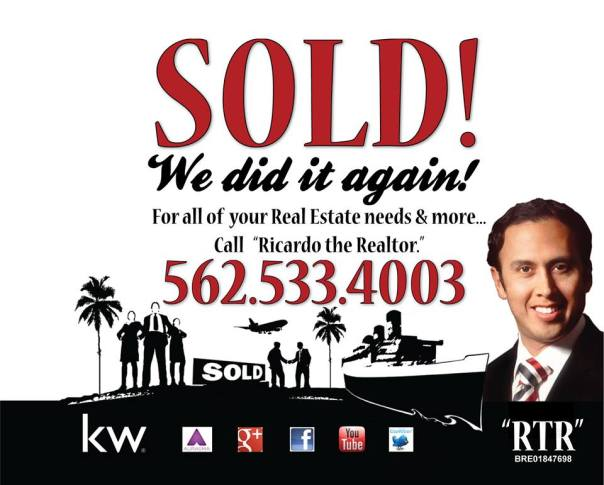 For all of your Real Estate needs & more. Call Ricardo the Realtor.