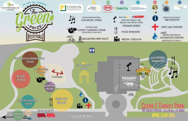 The Green Prize Festival Map - Long Beach Events
